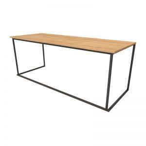Eettafel Zwart Oak 75 x 200 x h76 cm
