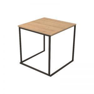 Eettafel Zwart Oak 75 x 75 x h76 cm