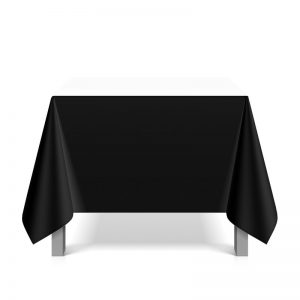 Tafellinnen Vierkant Wit of Zwart 228 x 228 cm