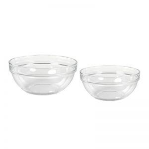 Stapelbare Saladier Glas