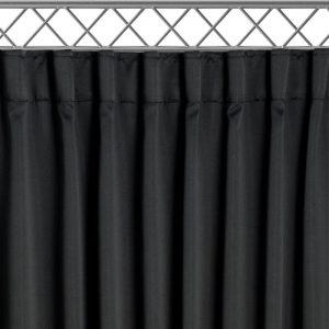 Zwart Theaterdoek aan Truss