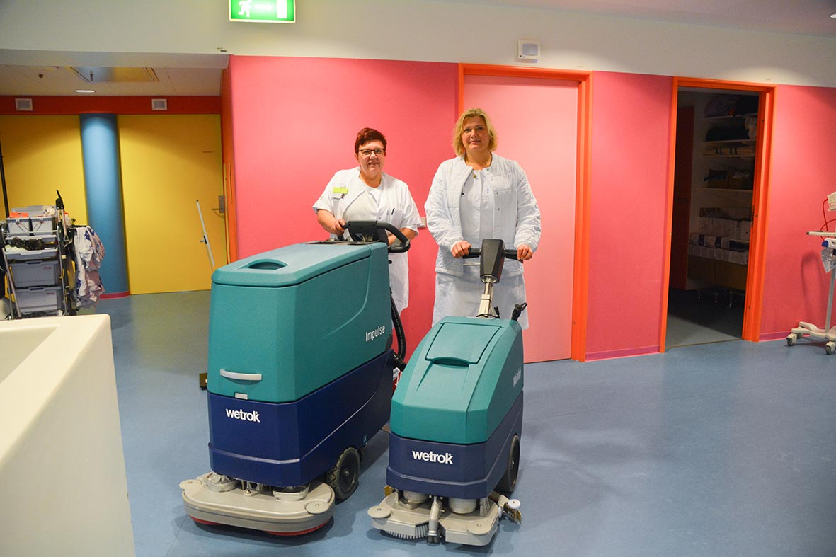 Effektive gulvmaskiner skal holde rent på nyt Herlev Hospital