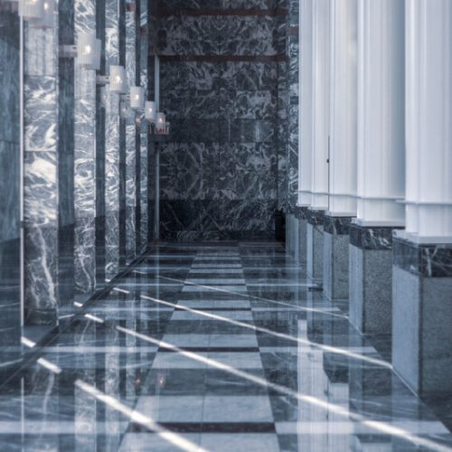Canva - Marble Tiles Near Columns