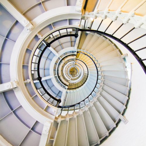 Canva - White Winding Staircase