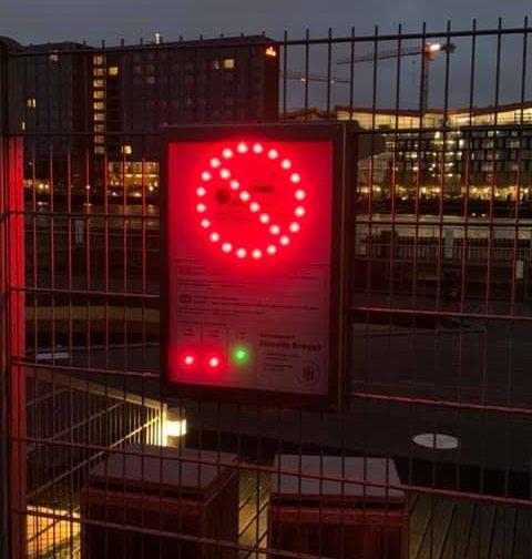 Røde flag - advarsel om spildevand
