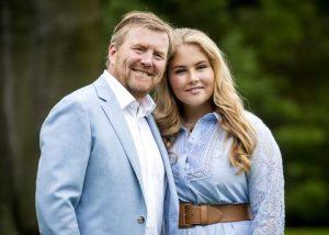 De Koning en zijn dochter Amalia Mediabericht: De Republikeinen jaargang 4 nr. 6