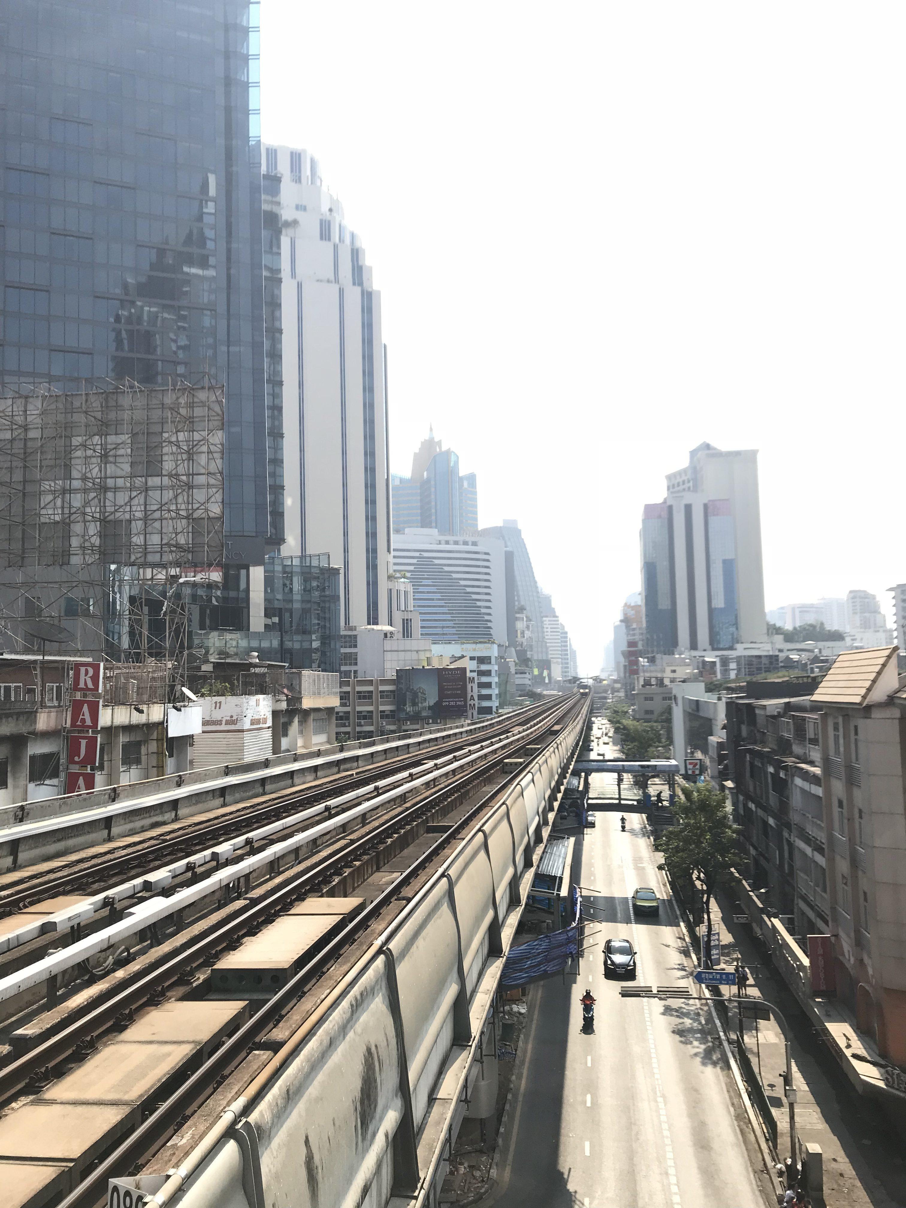Bangkok sett från BTS Skytrain.