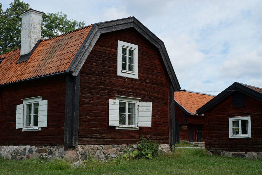 Byggnader i Tyresta by, Tyresta Nationalpark.
