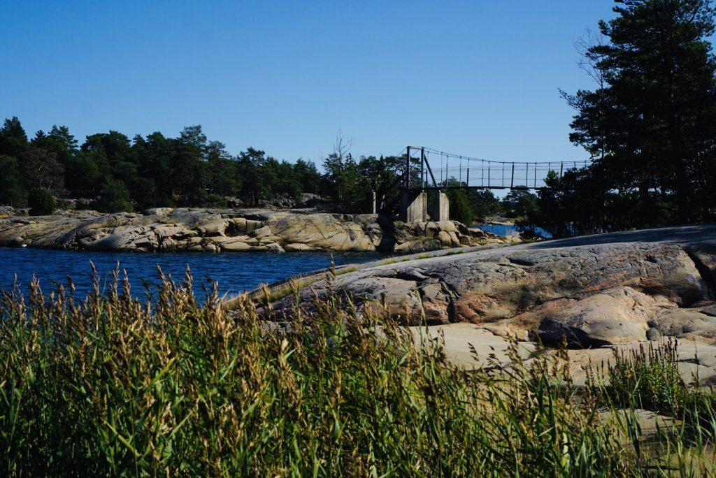 Hängbro i Stendörrens naturreservat.