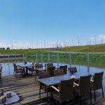 Terras Restaurant de Schelde in vernieuwde Oude Haven Colijnsplaat