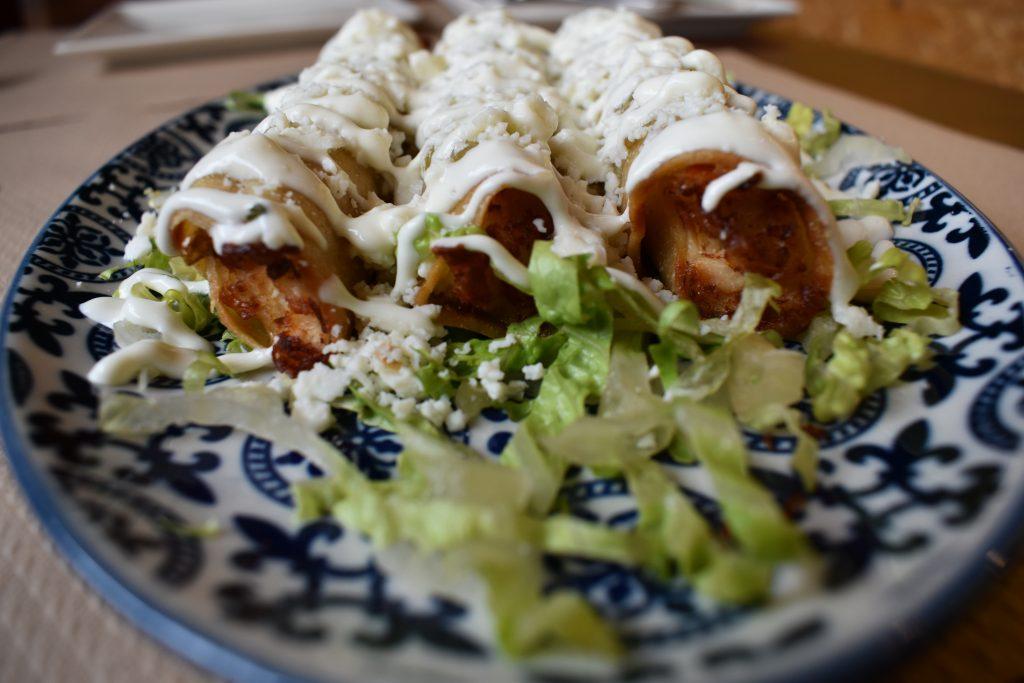 Flautas Tacos mexicanos