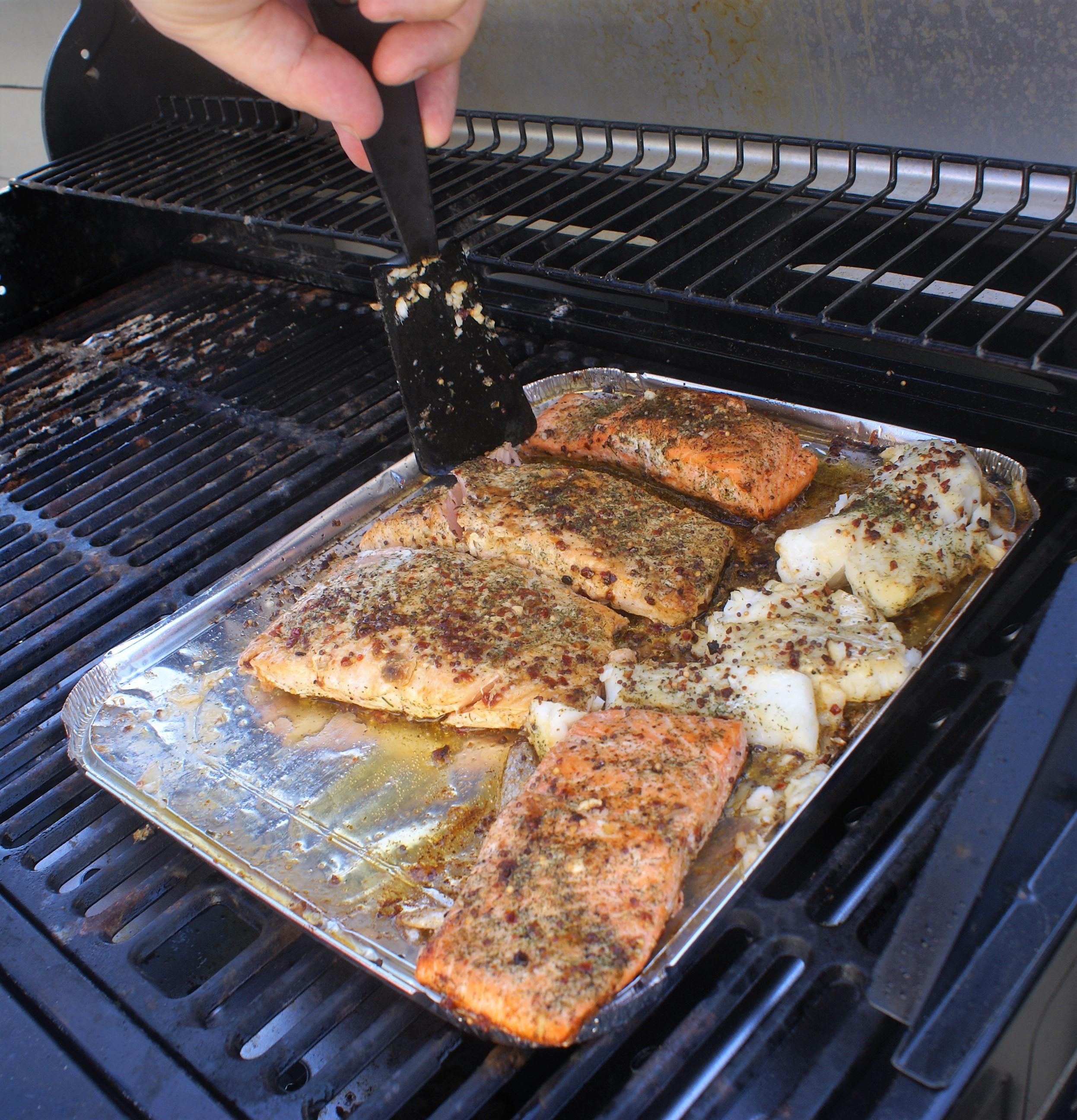 fisk på grill