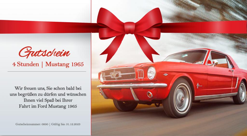 Mustang Oldtimer Gutscheine Muster Reul und Keller
