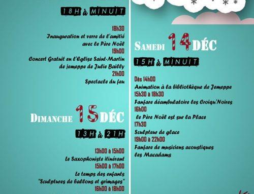 Marché de Noël 2019 de Jemeppe Sur Sambre – le RFC Spy y participe
