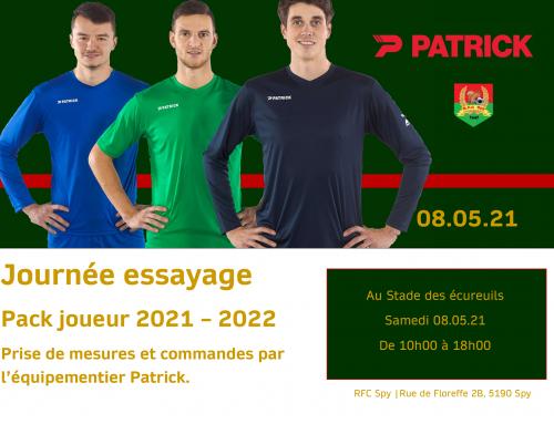 Essayage Pack 2021-2022 – horaire par catégorie