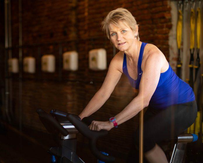 Jennifer Sage on bike ICA