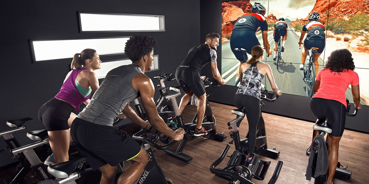 virtual indoor cycling experience