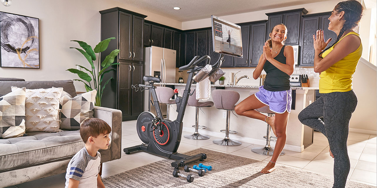 at-home cycling experience