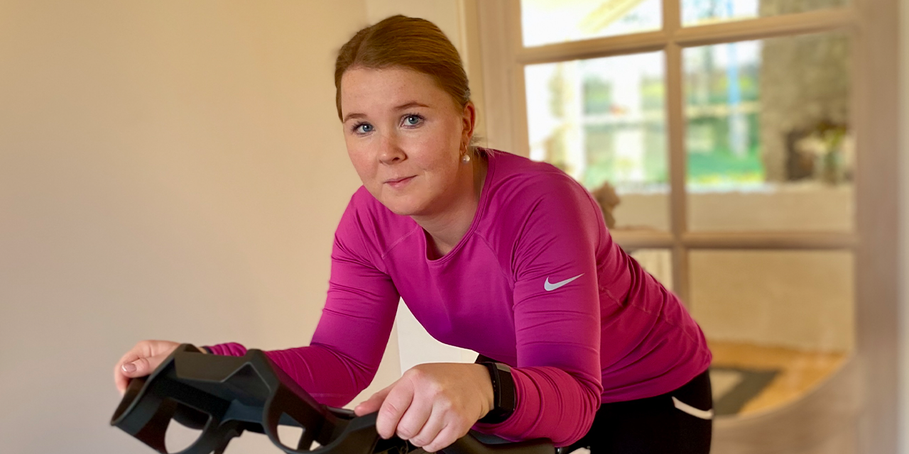Indoor cycling helps Puk with her surgery and back pain