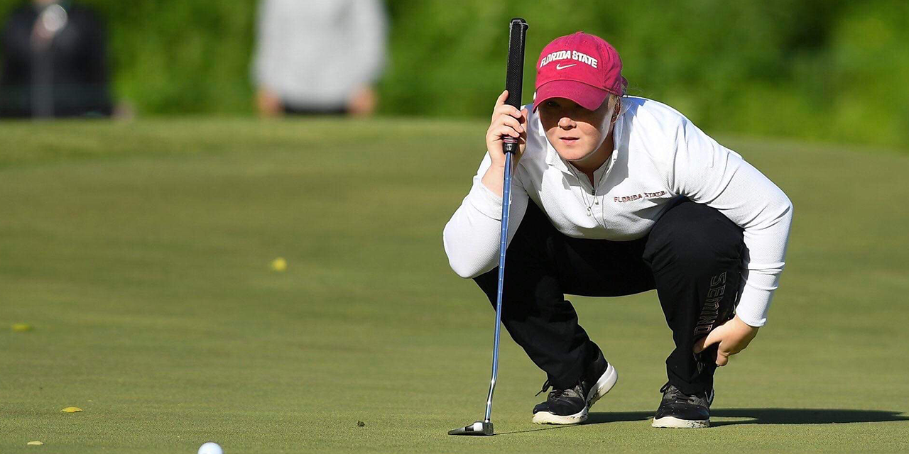 Puk Lyng Thomsen concentrated professional golfer