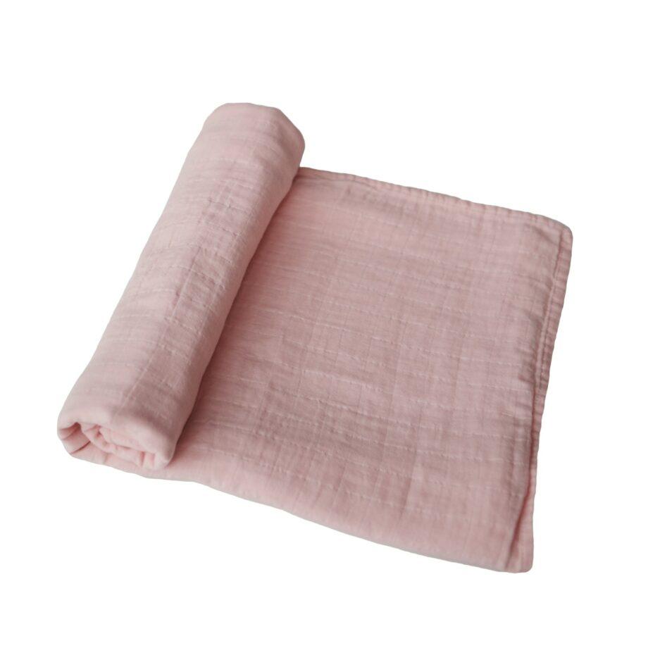 Hydrofiele doek Rose Vanilla roze Mushie