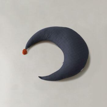 Maan kussen blauw - groot - Play at Slaep