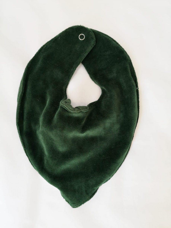 Slaep bandana groen achterkant - Rima Baby