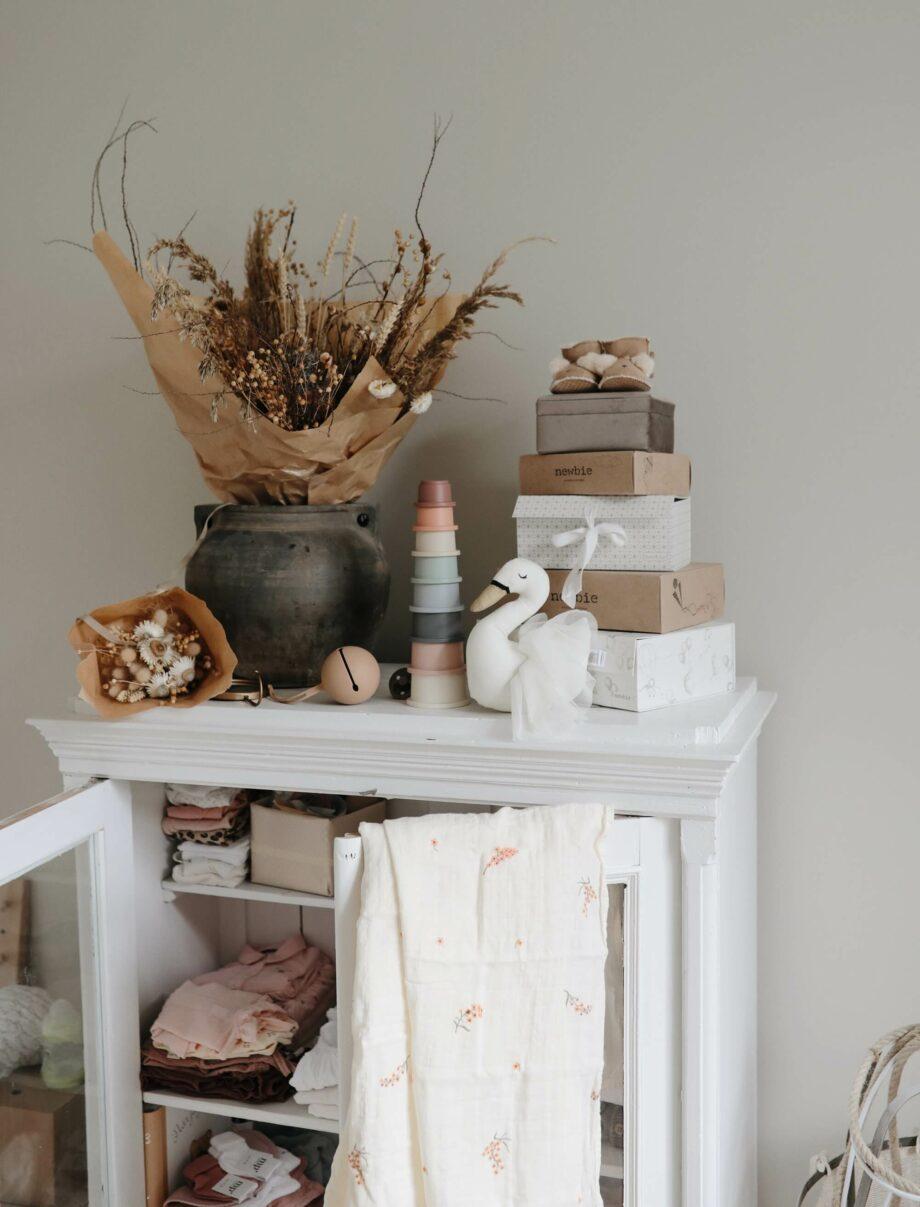 Stapeltoren stacking cups Pastel Mushie - Rima Baby