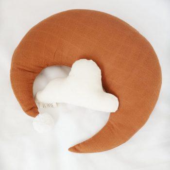 Rammelwolk met maankussen sugar almond - Rima Baby