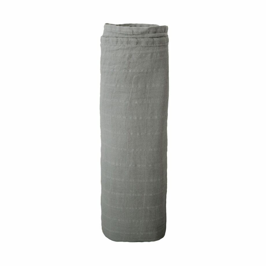 Swaddle belgian grey Mushie - Grijze hydrofiele doek