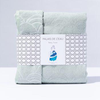 baby towel Palais de leau mintgroen - Rima Baby