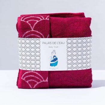 Palais de l'eau cherise rood handdoek - Rima Baby