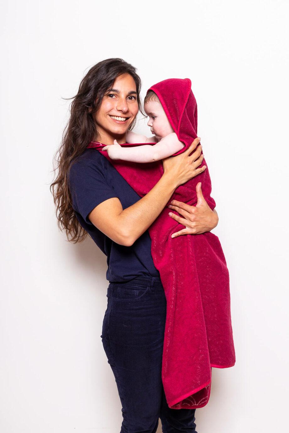Baby towel rood Palais de leau - Rima Baby