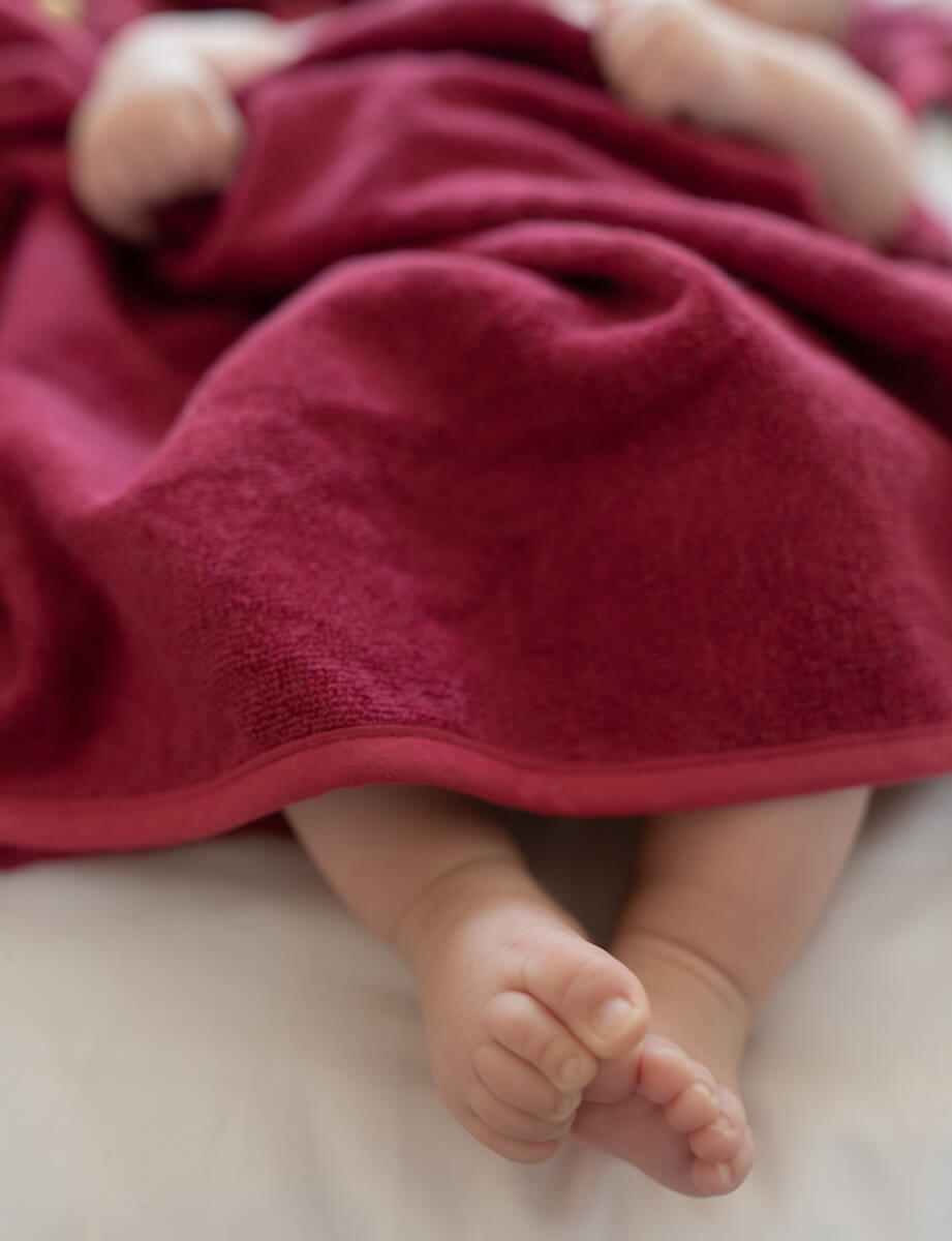 Cerise babyhanddoek - Rima Baby