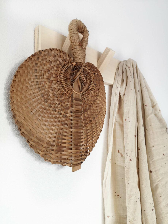 Gevlochten waaier bruin bamboe palm - Rima Baby