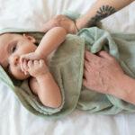 Pastel groen babyhanddoek - Rima Baby