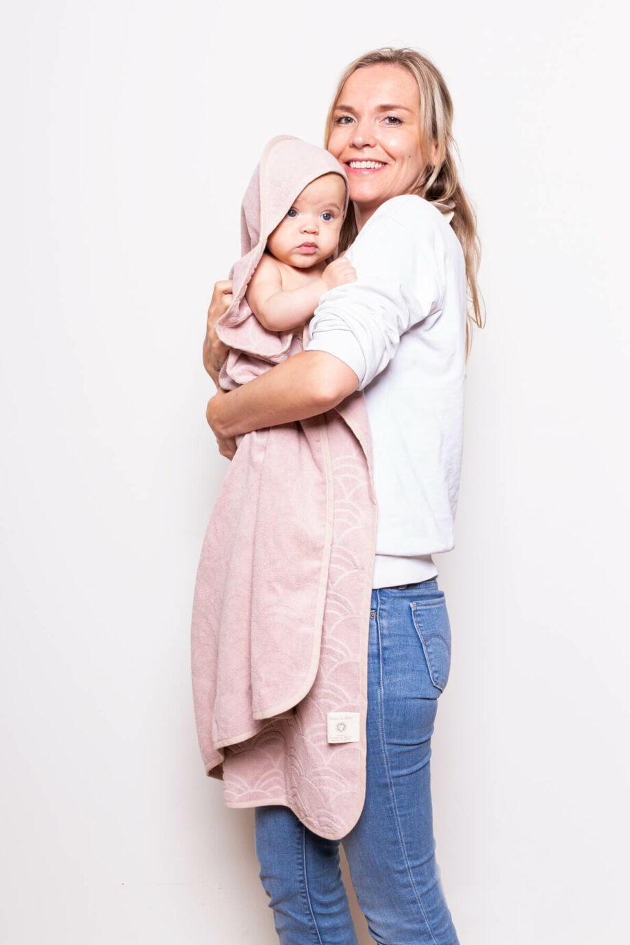 Roze baby towel Palais de leau - Rima Baby