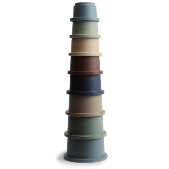 Stapeltoren stacking cups mushie forest - Rima Baby