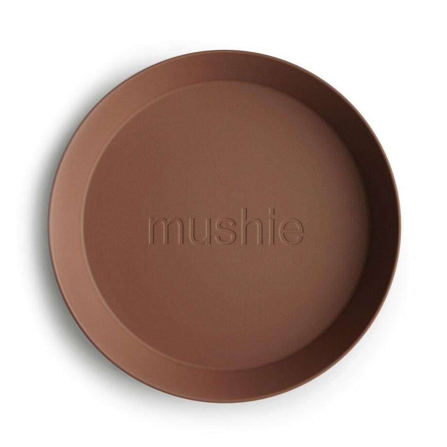 Bord Mushie - caramel bruin - Rima Baby