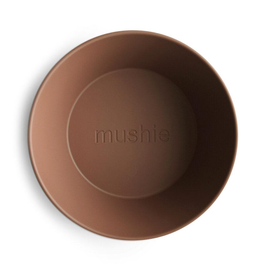 Schaaltje - kom Mushie caramel bruin - Rima Baby