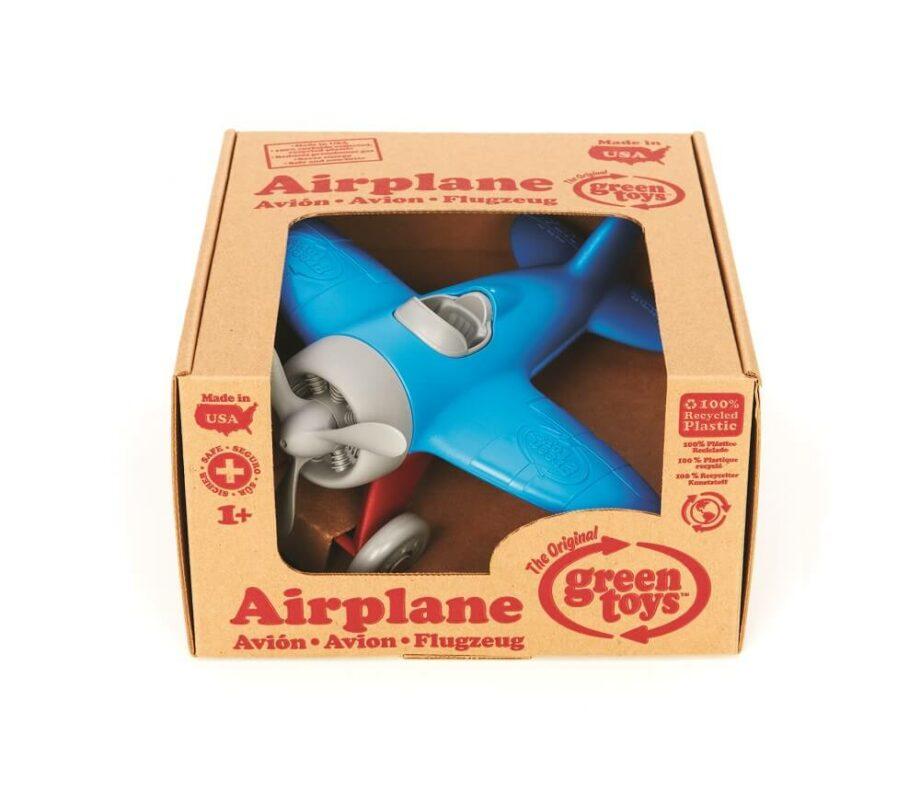 Vliegtuig blauw Greentoys