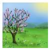 En bild som visar träd, blomma, växt, dator  Automatiskt genererad beskrivning