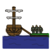 Embarking and disembarking armies