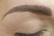 Nahaufnahme von Arabian Brows Permanent Make-up