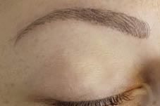 Nahaufnahme von Natural Brows Permanent Make-up