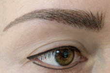 Nahaufnahme Ombre Brows Permanent Make-up