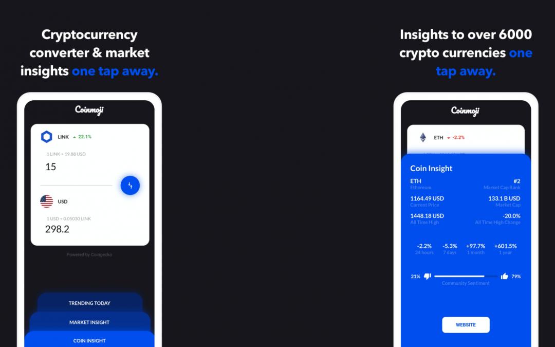 Coinmoji – Cryptocurrency Market Insights & Converter