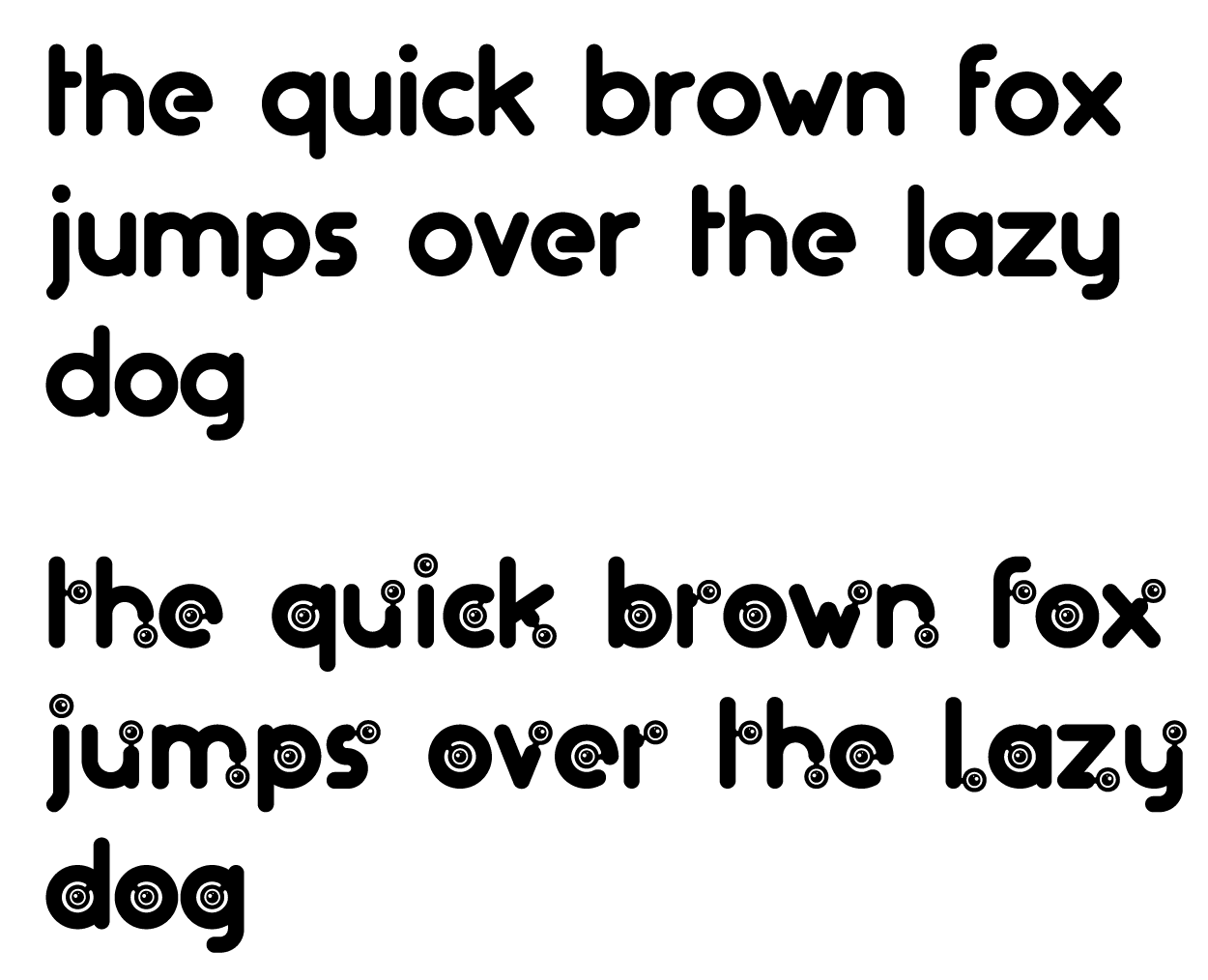 The quick brown fox jumps over the lazy dog, written in the Artificers typeface