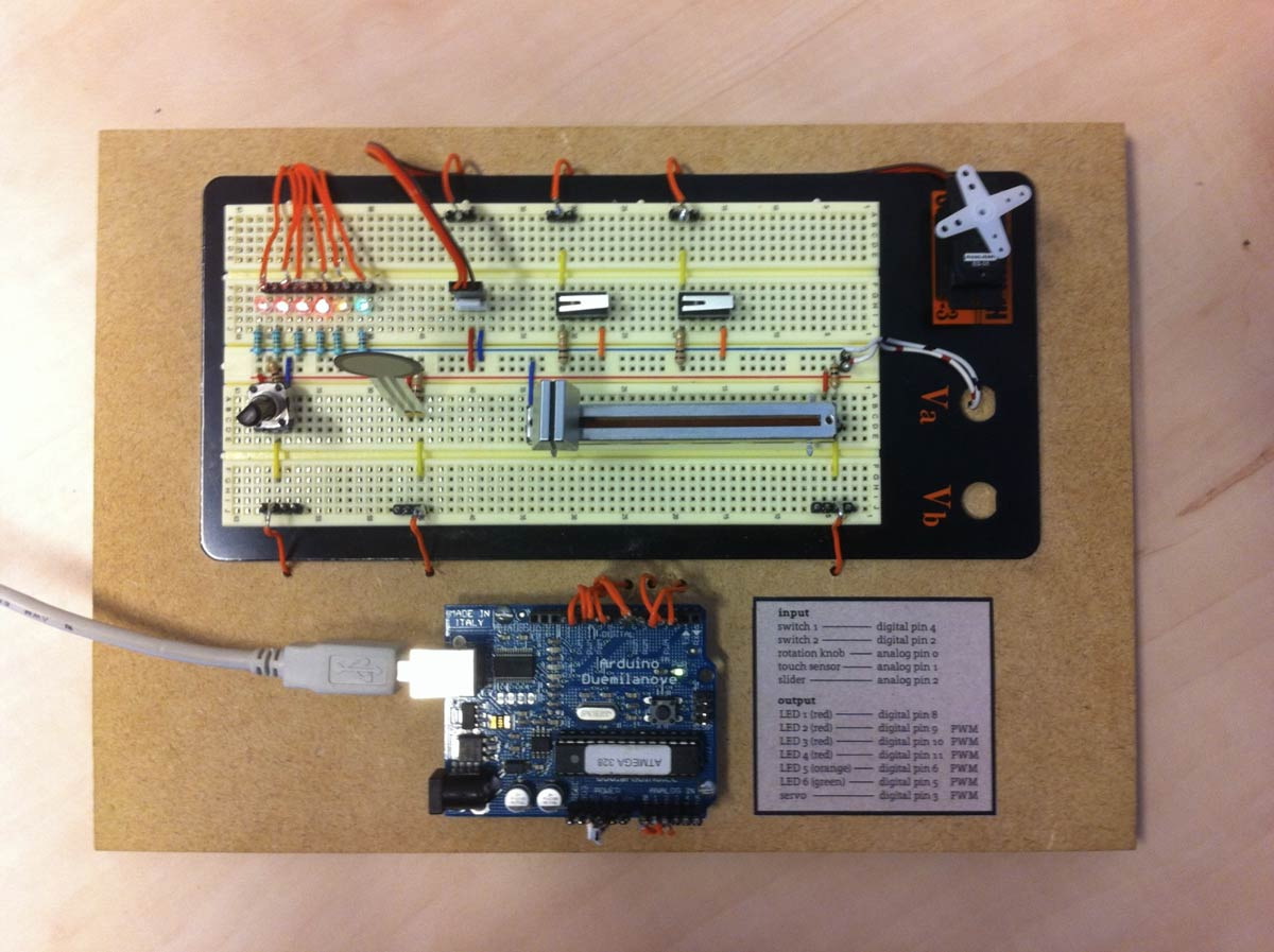 Arduino hardware prototyping board, to make programming easier