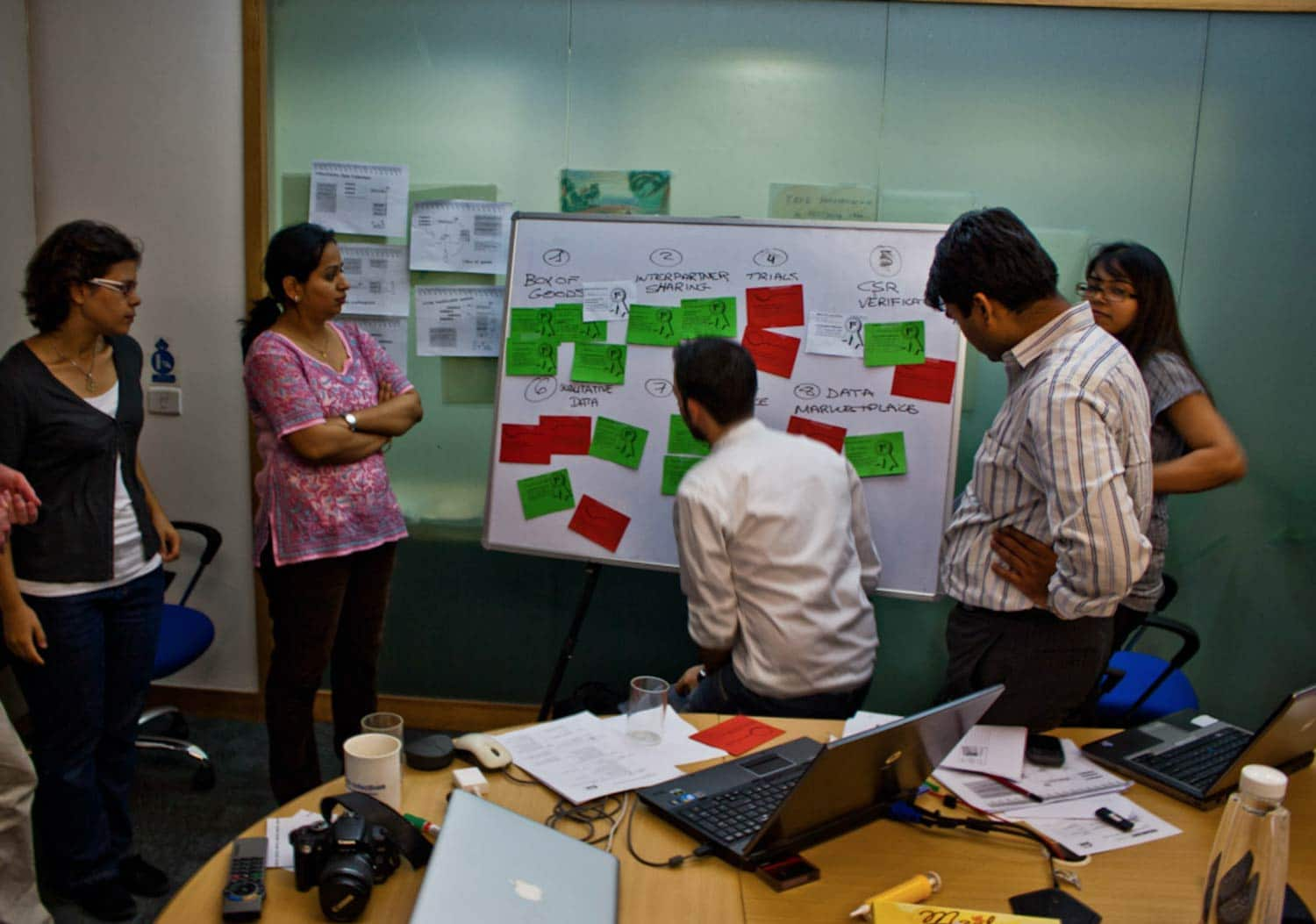Workshop at the DSM office in India, discussing different concepts